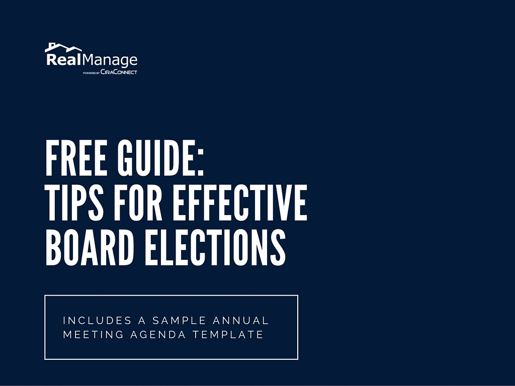 free guide for effective hoa elections