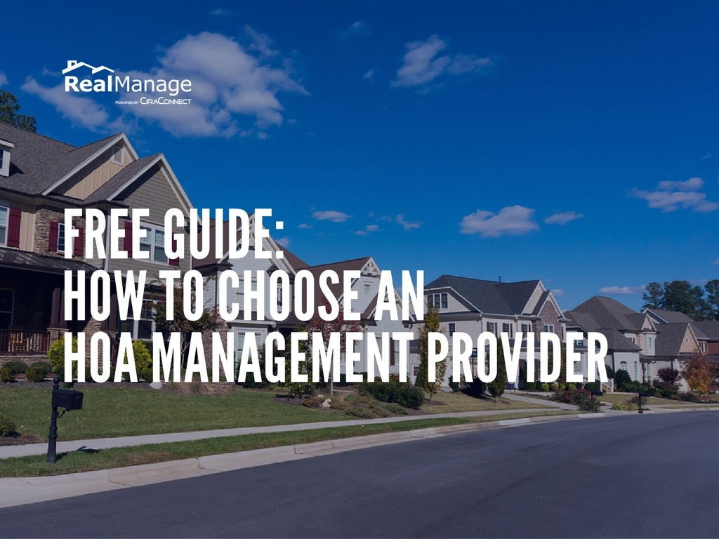 free guide how to choon an hoa managment provider