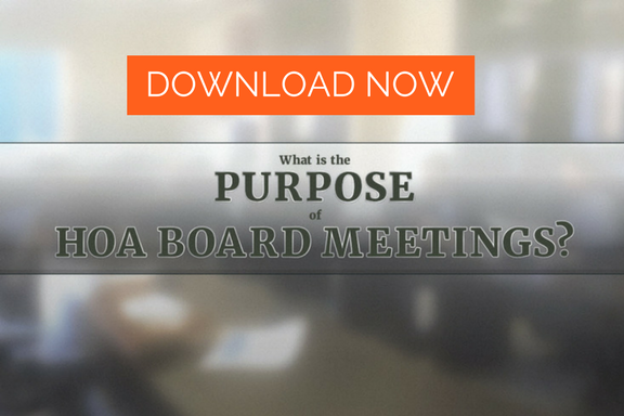 download free guide purpose of an HOA board meeting